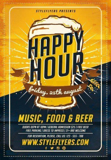 Happy Hour Psd Flyer Template 8971 Styleflyers Happy Hour Flyer Template Free