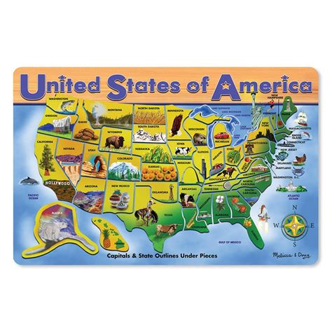 usa map puzzle wooden usa map large wooden puzzle educational toys planet