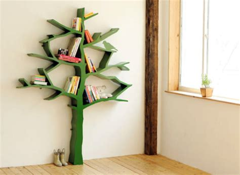walls construction diy tree bookshelf