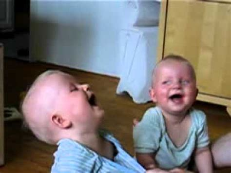 laughing twins twin babies laugh at their father youtube