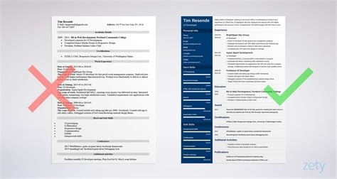 ux designer resume ui developer resume sles writing