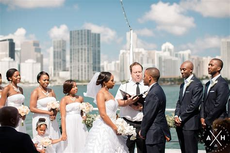 Yacht Wedding by Essence Jamal A Miami Yacht Wedding