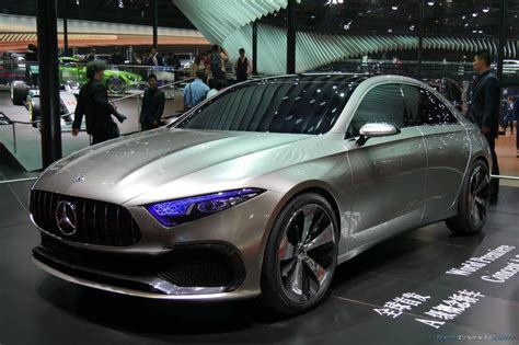 Mercedes Prototype Mercedes Concept A Sedan Previews Production Model