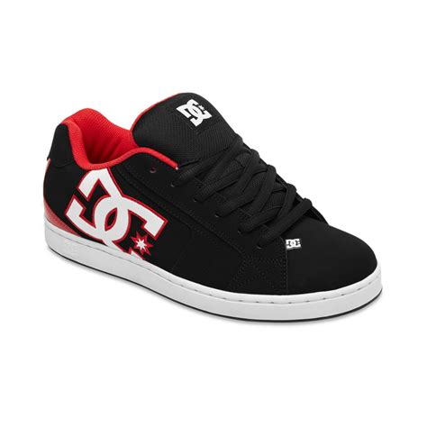 black dc shoes dc shoes net sneakers in black for lyst