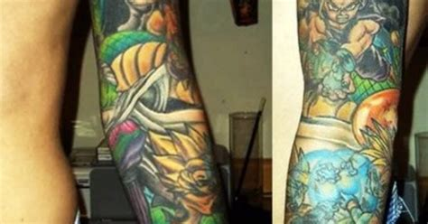 dragon ball z tattoo sleeve z sleeve thats legit but i could never