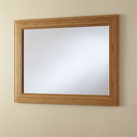 horizontal bathroom mirrors 36 quot horizontal portola bamboo vanity mirror transitional