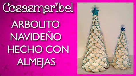 adornos navideos con reciclaje adornos navide 241 os arbolito hecho con almejas reciclaje