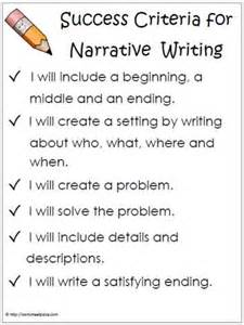 Crafting A In Essay Story Poem by Narrative Success Criteria This Poster Is To Hung Up In The Classroom To Remind