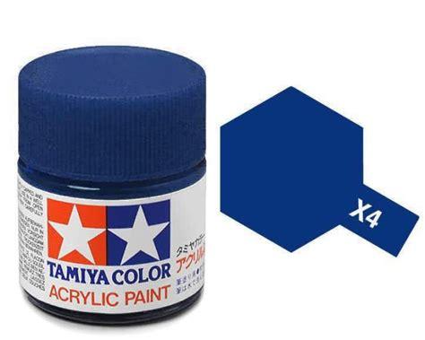 tamiya acrylic blue paint x4