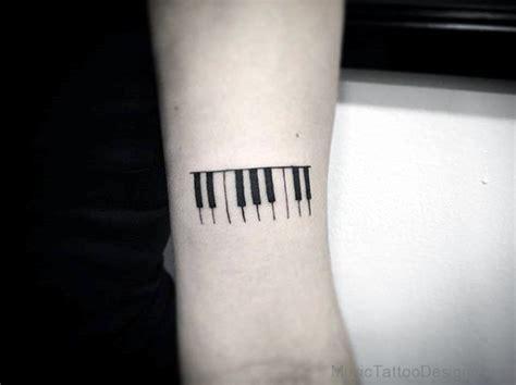 simple designed black ink music 80 stylish piano tattoos