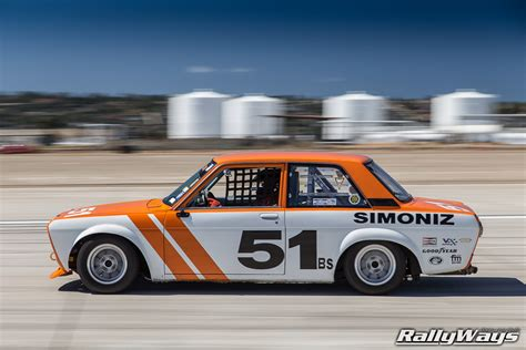 classic datsun 510 coronado speed festival vintage car racing rallyways