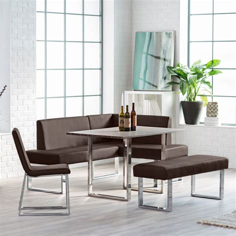 dinette sets with bench support for your dining room ideas corner dining set breakfast nook leather bench chairs