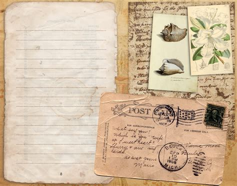Free Card Papers - 5 best images of free printable vintage journal free