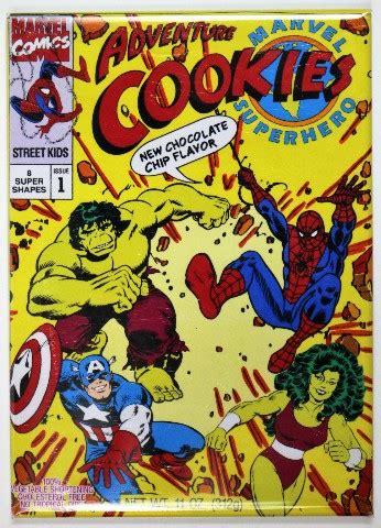 marvel super hero adventure cookies fridge magnet