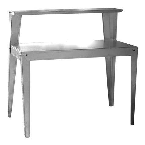 galvanized potting bench galvanized steel potting bench garden workstation rack table fastfurnishings com