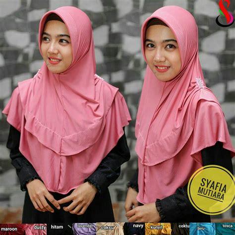 Klip Jilbab Mutiara 1 jilbab syafia mutiara sentral grosir jilbab kerudung i supplier jilbab i retail grosir