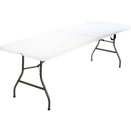 Cosco 8 Ft Centerfold Table White Walmart Com