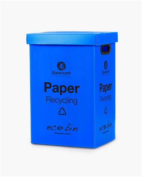 Oh Look Waste Paper Bins In Paper Sizes by Paper Cardboard Recycling Bin Blue Ecobin 60 Litre