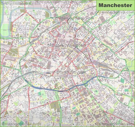 map uk manchester large detailed map of manchester