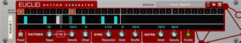 drum rhythm pattern generator euclid rhythm generator rack extension by robotic bean