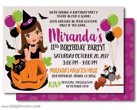 Printable Birthday Invitations Halloween Theme | 16 best images about kid friendly non scary halloween