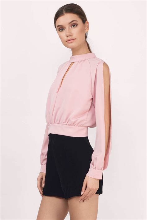 Id Sleeve Blouse blush blouse pink blouse boat neck blouse 20 00