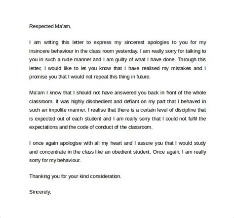 Apology Letter Work Sle Work Apology Letter 9 Free Documents In Pdf Word