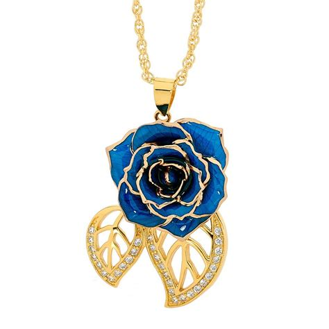In Pendant by Blue Glazed Pendant In Leaf Theme 24k Gold