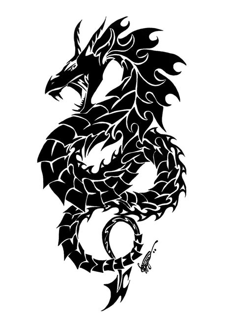 tribal dragon tattoo designs 52 tribal tattoos designs