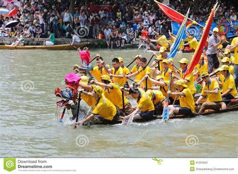 dragon boat festival hangzhou hangzhou xixi wetland dragon boat race in china editorial
