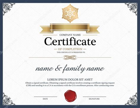illustrator certificate template certificate design template stock vector 169 phaisarnwong