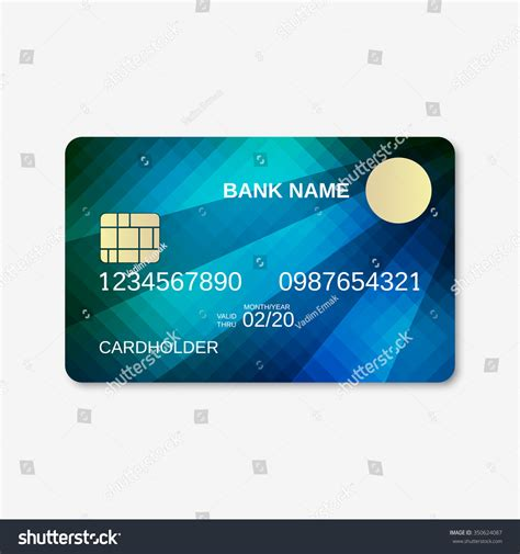 Credit Card Background Template Bank Card Credit Card Discount Card Stock Vector 350624087