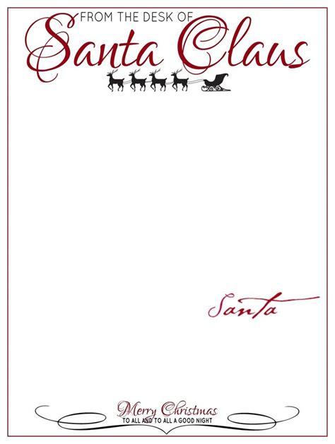 santa letter printable letter of recommendation letter from santa letterhead letter of recommendation