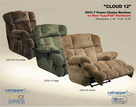 catnapper cloud 12 recliner catnapper cloud 12 power chaise recliner sage cn 6541 7