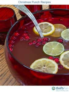 christmas punch recipes thriftyfun