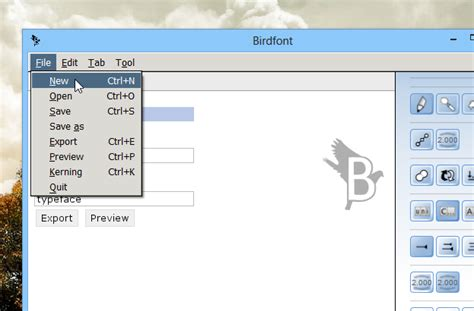 design own font mac design your own fonts with birdfont for windows mac linux