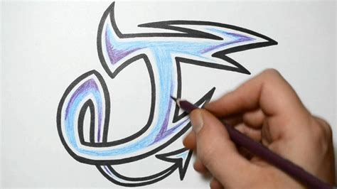 draw graffiti characters letter  youtube