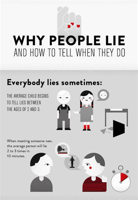 lies that bind how do you arrest someone who doesn t exist books infographic why lie and how to tell when they do