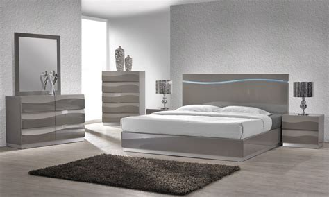 gray bedroom furniture enzo grey lacquer bed with led lights