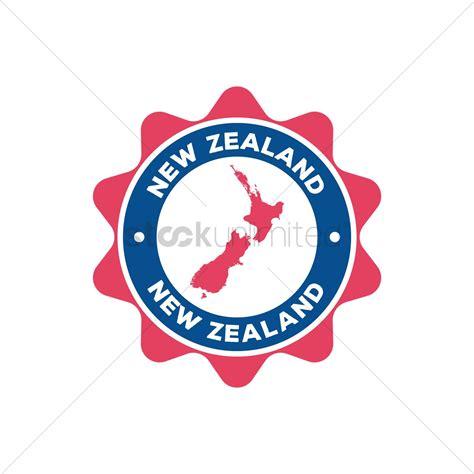 graphics design nz new zealand label design vector image 2015255
