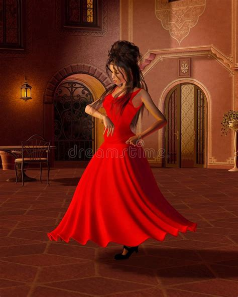 Cortile Spagnolo by Giovane Danzatore Di Flamenco In Un Cortile Spagnolo