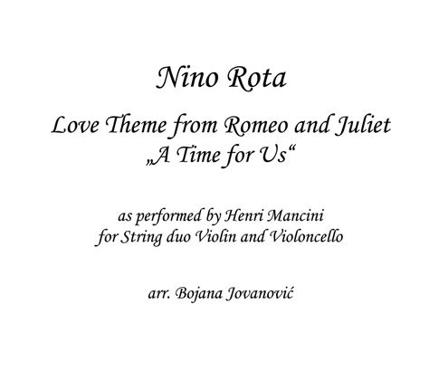 love theme from quot romeo and juliet quot sheet music by nino love theme from romeo and juliet sheet music strings