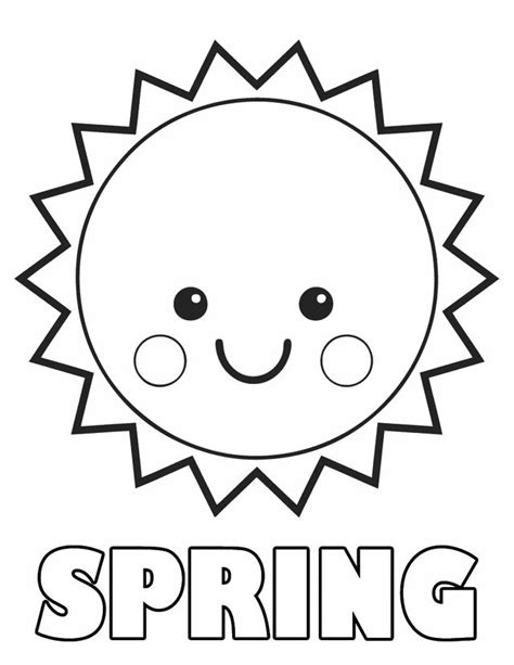 Sun Coloring Pages For Toddlers springtime coloring sheets sun coloring sun and