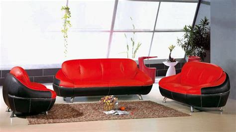 Sofa Warna Merah modern leather sofa