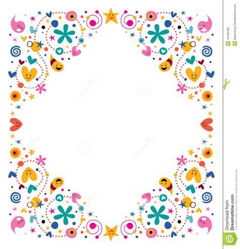 design frame cartoon celebratory happy cartoon frame stock vector image 44130188