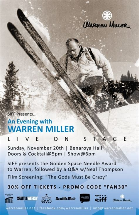 ski movie mogul warren miller refuses to go downhill siff presents an evening with warren miller at benaroya