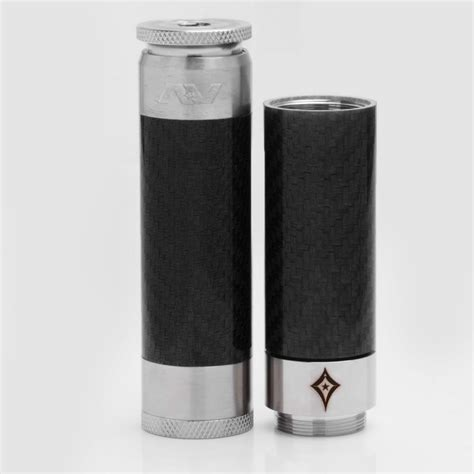 Av Able Blavk Carbon av able ss edition stacked style black 18650 mechanical mod