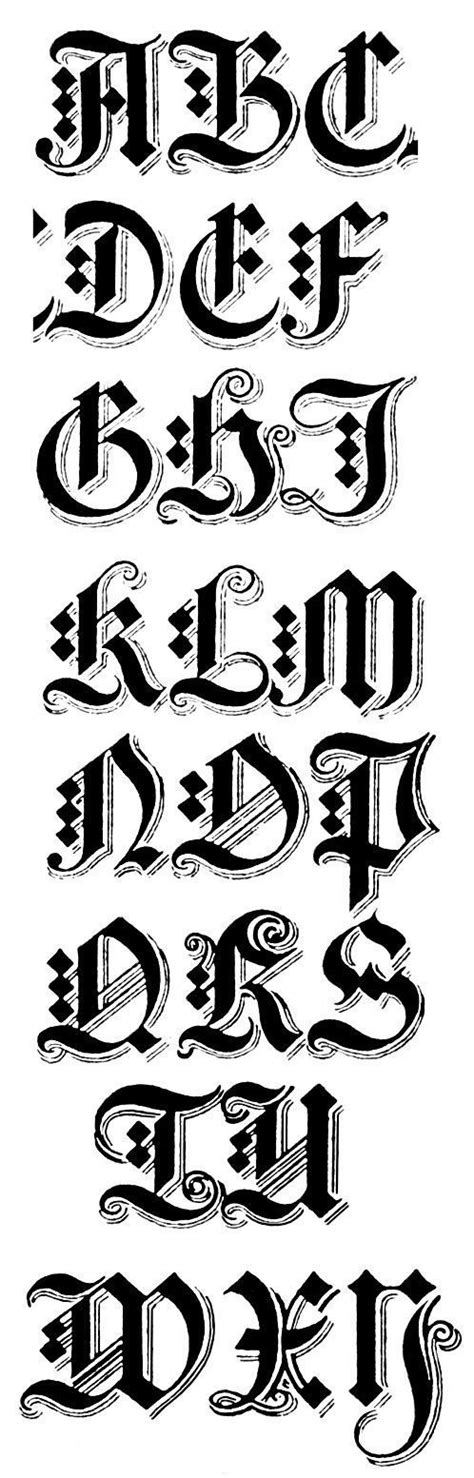 gothic tattoo alphabet gothic alphabets graffiti alphabet graffiti and calligraphy