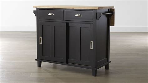cb2 kitchen island belmont black kitchen island crate and barrel