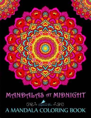coloring book black background midnight edition coloring pages for everyone adults teenagers tweens boys practice for stress relief relaxation books bookler creative flower mandalas coloring book